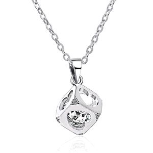 ♠️+ Swarovski® Diamonds Love Cube Necklace